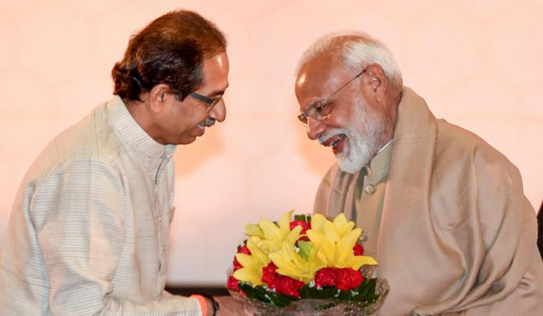 [File] Shiv Sena chief Uddhav Thackeray and Prime Minister Narendra Modi | PTI