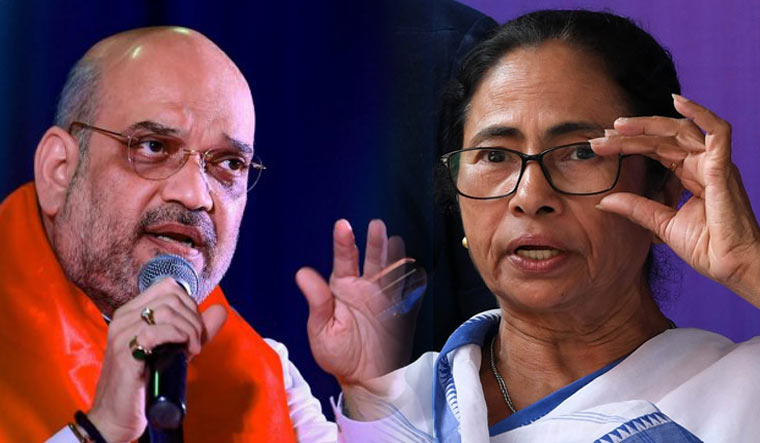 Union Home Minister Amit Shah and West Bengal Chief Minister Mamata Banerjee