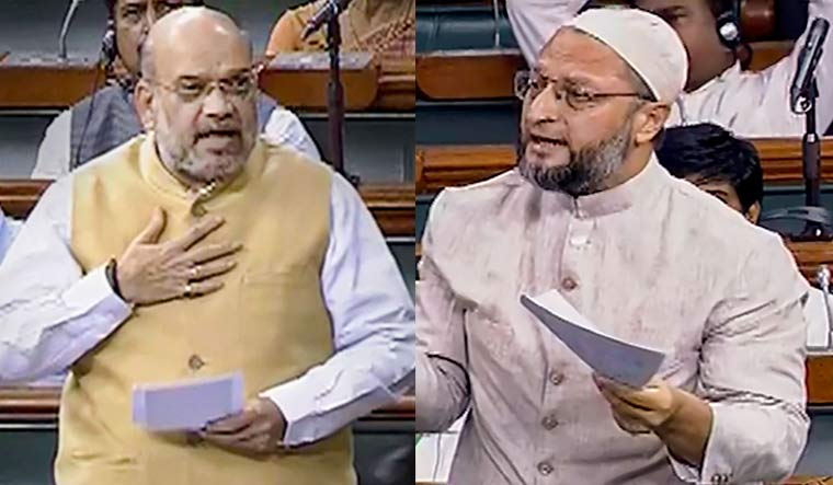 Union Home Minister Amit Shah and AIMIM MP Asaduddin Owaisi | PTI