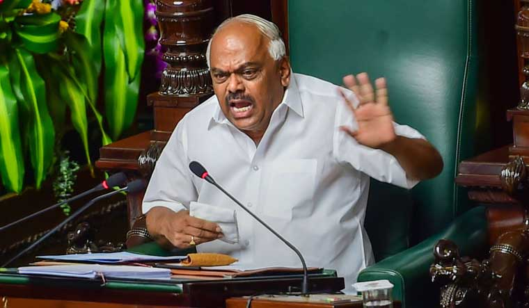 Karnataka crisis: Speaker adjourns assembly till Monday