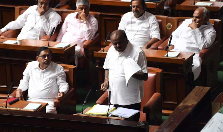 Kumaraswamy and the Congress had moved the Supreme Court on Friday, accusing the governor of interfering with the Assembly proceedings | Bhanu Prakash Chandra