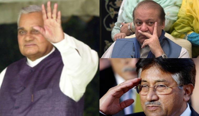 Vajpayee Sharif Musharraf collage