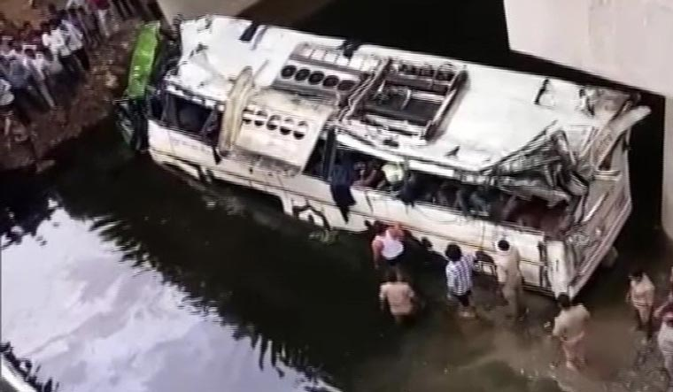 Image result for agra bus accident