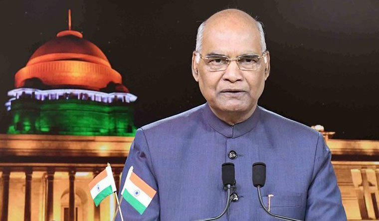President Ram Nath Kovind address the nation on the eve of the Independence Day | Twitter/PIB