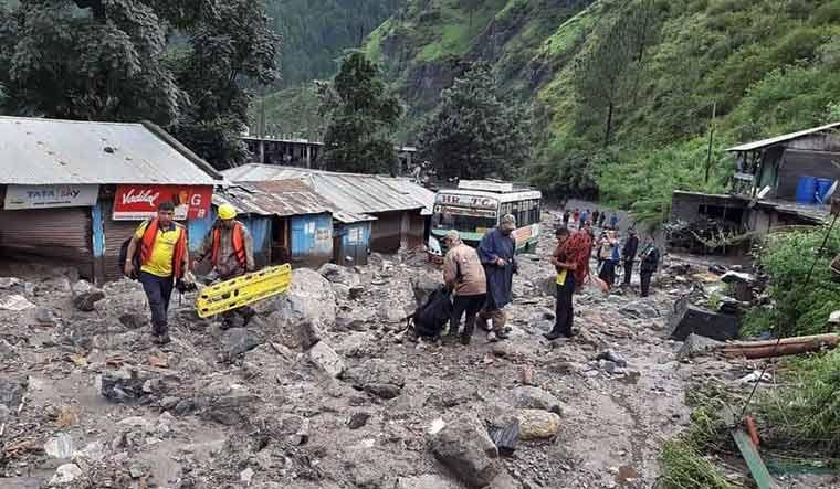 Rescue operations underway after a cloudburst at Arakot in Mori tehsil of Uttarakhand | PTI