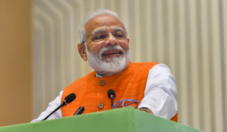 Prime Minister Narendra Modi addresses during a function on promotion and development of Yoga in New Delhi | PTI