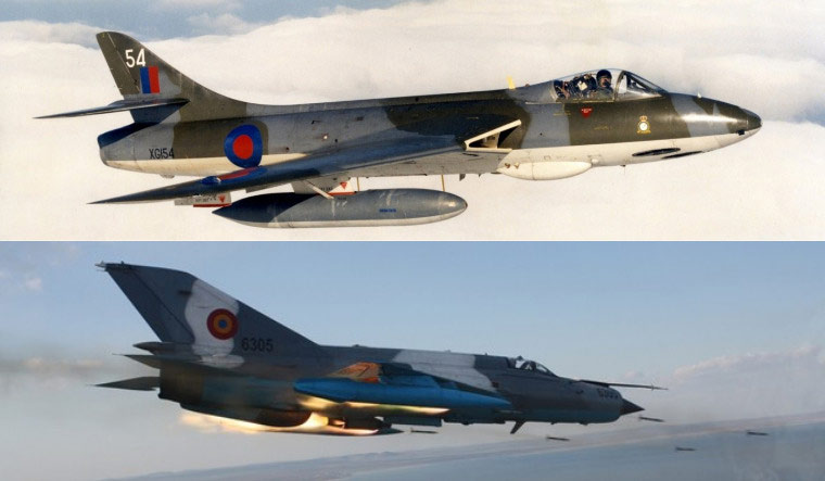 Hunter MiG-21 collage