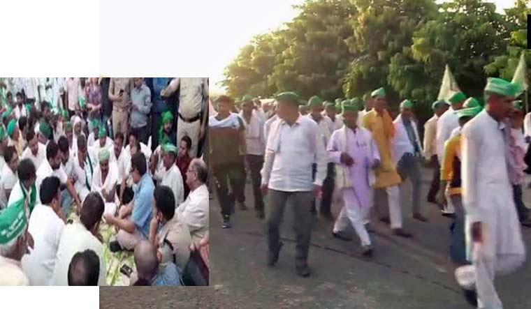 Image result for farmer on protest