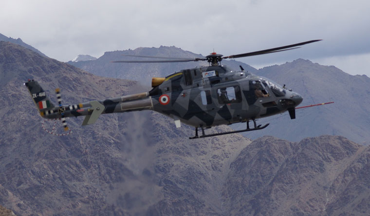 HAL developed light utility helicopter lands in Ladakh - The
