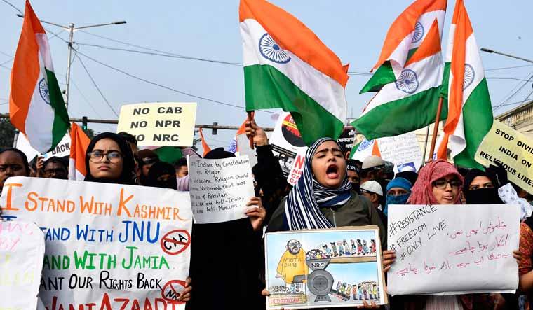 Anti-CAA protest Kolkata salil