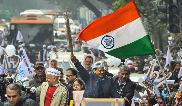 Kejriwal roadshow pti