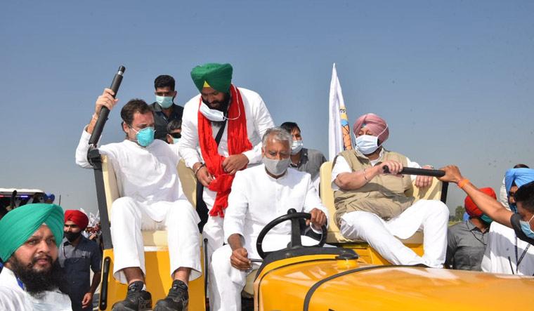 Rahul Gandhi leads a tractor rally in Punjab against the farm legislations | Aayush Goel