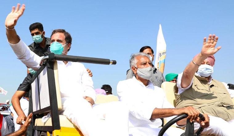 Rahul Gandhi during a tractor rally in Punjab against the farm legislations   Aayush Goel