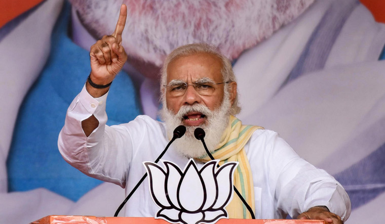 Prime Minister Narendra Modi addresses an election rally in Bihar | PTI