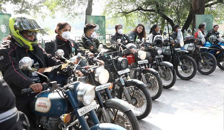 Fifteen well-known women bike riders from across the country are participating in the 1,500 kms trail to major tourist destinations in the state.