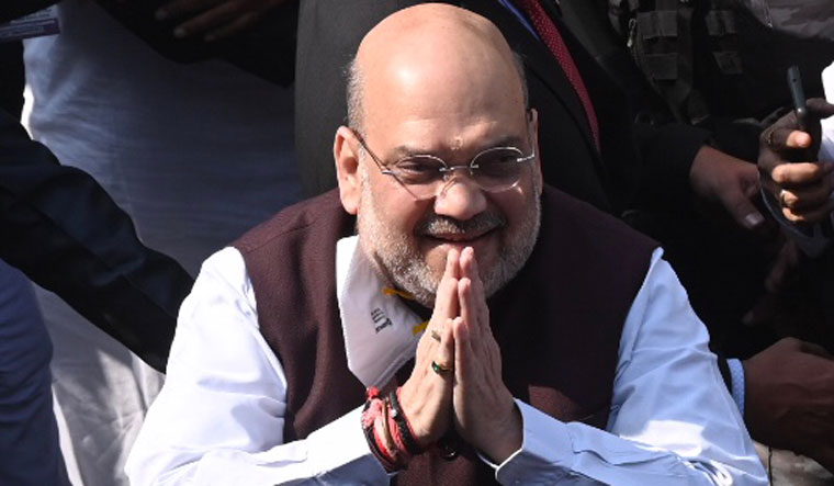 [File] Home Minister Amit Shah during his visit to Kolkata | Salil Bera