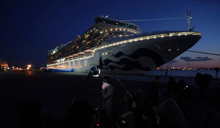 The Diamond Princess cruise ship at the Yokohama Port in Yokohama, Japan | AP