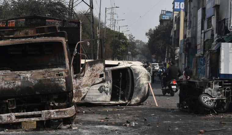 burnt-vehicles-delhi-aayush-goel