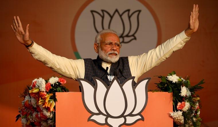 PM Modi addresses a BJP campaign rally in Delhi | AP