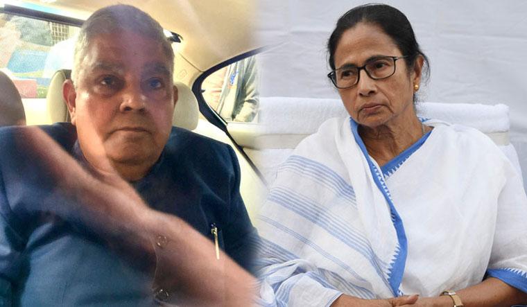 West Bengal Governor Jagdeep Dhankhar and Chief Minister Mamata Banerjee | Salil Bera