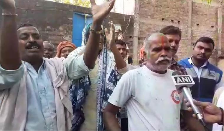 Nirbhaya uncle celebrating