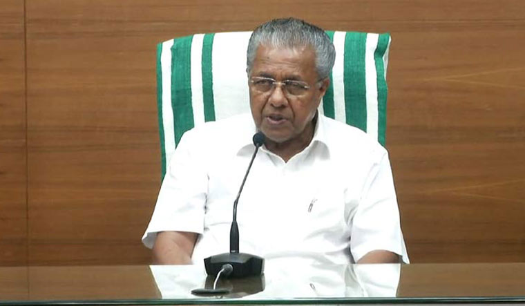 Chief Minister Pinarayi Vijayan talking to media in Thiruvananthapuram | Manorama