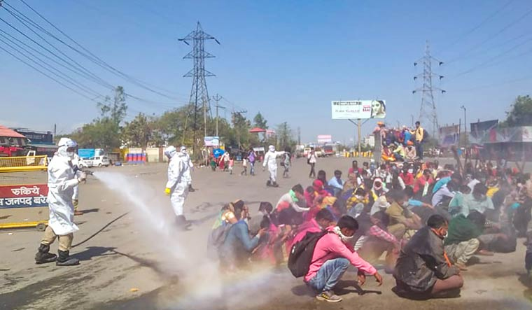Action taken against officials who sprayed disinfectant on labourers, says Centre