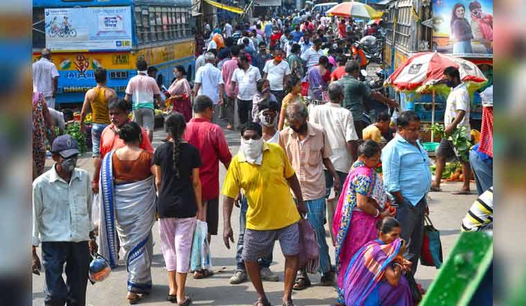 Bagmari market in Kolkata on the 10th lockdown day in Kolkata | Salil Bera