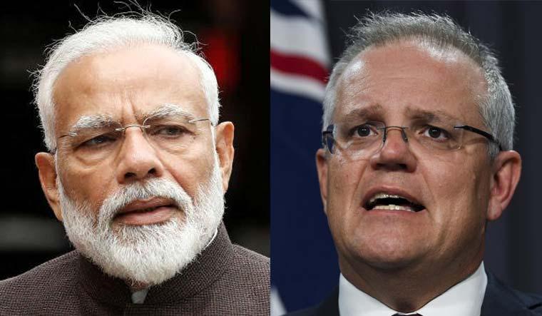 Prime Minister Narendra Modi and Australian PM Scott Morrison | PTI/Reuters