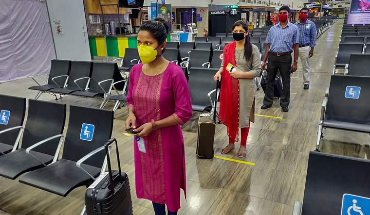 Preparations underway at the Chennai airport for a calibrated resumption of flights from May 25 | PTI