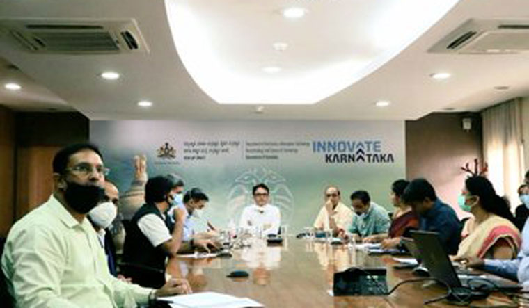 Deputy Chief Minister Dr C.N. Ashwath Narayan launched the data analysis tool  during a video conference with the IT-BT industry leaders | Twitter