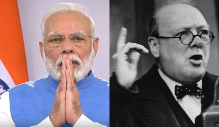 Modi churchill collage