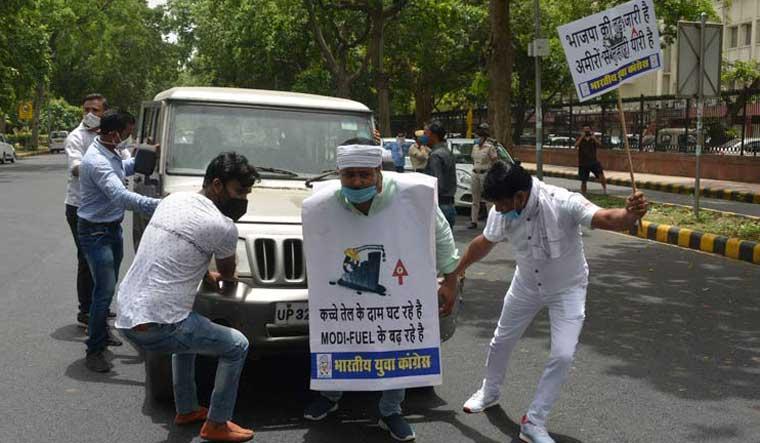 congress-protest-fuel-hike-arvind-jain