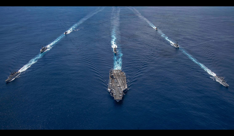 WATCH: Indian Navy and US supercarrier hold drills near Andaman ...