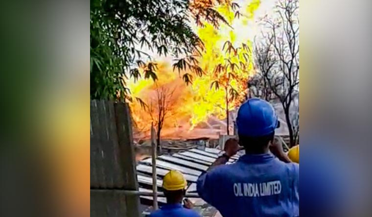 Baghjan-oil-well-gas-explosion-Assam-Tinsukia-PTI