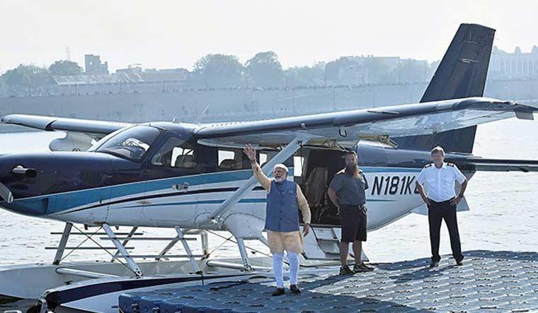 gujarat-seaplane-modi-CMOTwitter