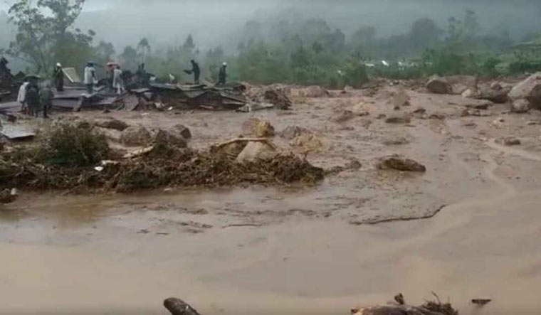 A view from Pettimudi where heavy rains triggered a major landslide | Manorama