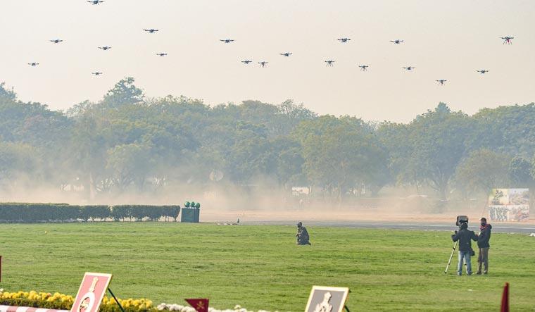drone swarm army day pti