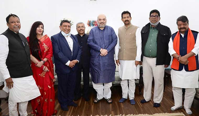 tmc-bjp-Rajib-Banerjee-Baishali-Dalmiya-Prabir-Ghoshal-Rathin-Chakraborti-Rudranil-Ghosh--pti