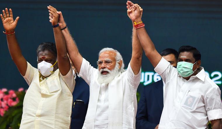 OPS, EPS call on PM Modi in Delhi. Was AIADMK's internal tussle on agenda?