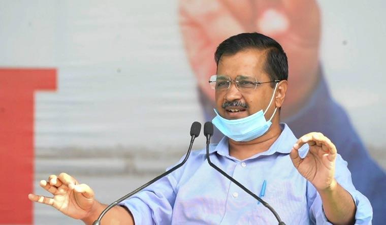 Delhi CM Arvind Kejriwal addresses a farmer's rally in Meerut | PTI