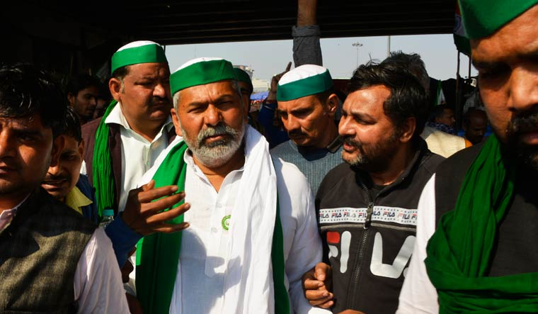 Tikait is camping with his supporters on a stretch of the Delhi-Meerut highway since November | Arvind Jain