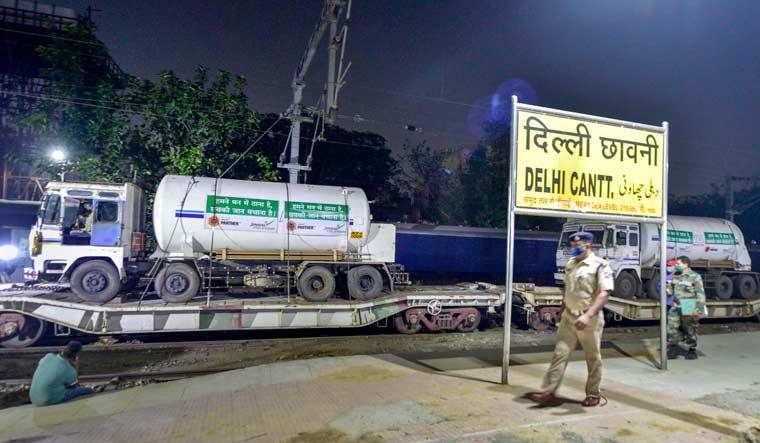 delhi oxygen supplies pti