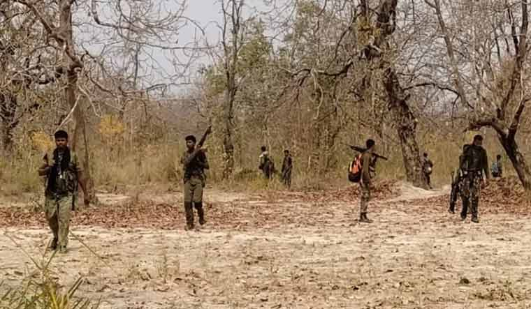 [File] Security personnel at the Sukma-Bijapur area where the encounter with Maoists took place on April 3