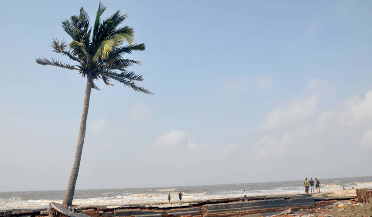A damaged beachside in the aftermath of Cyclone Yaas in Kolkata | PTI