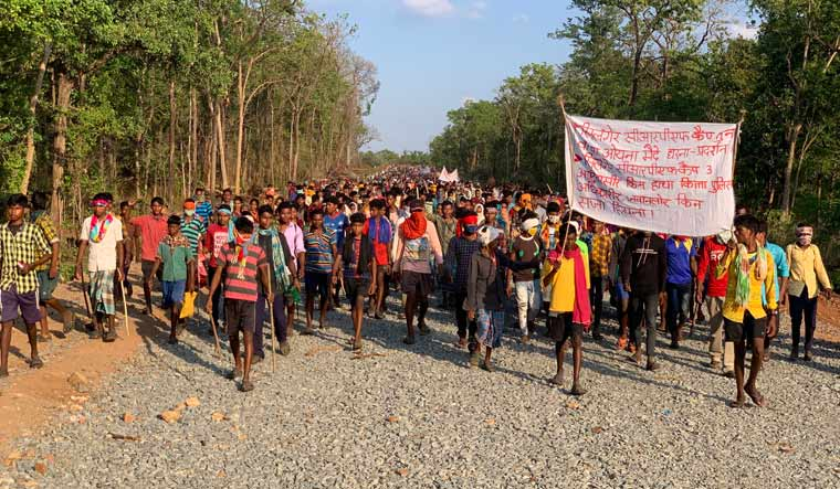 Villagers protesting in Silger | Raja Rathour