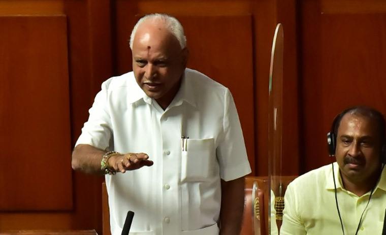 Former chief minister B.S. Yediyurappa speaks in Karnataka Assembly