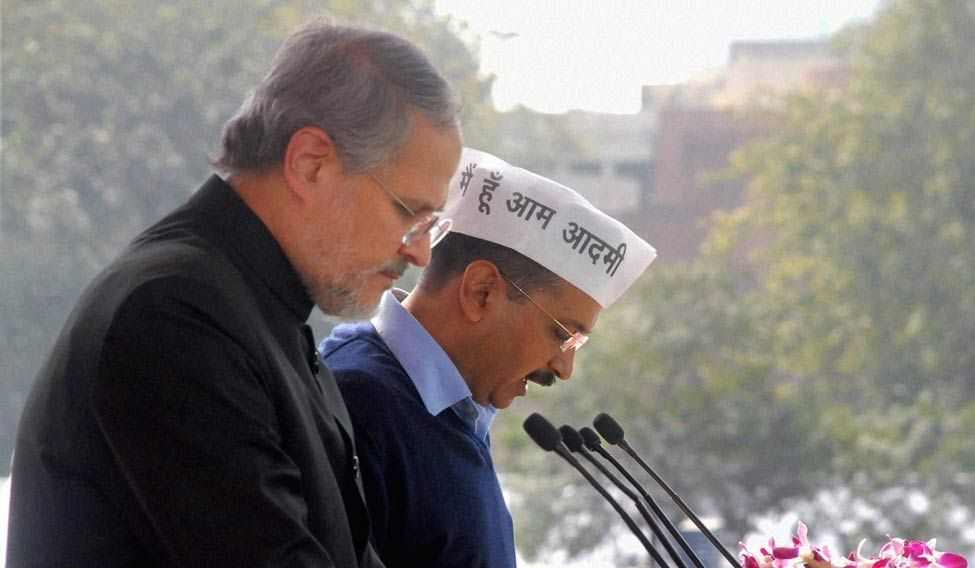 Lt. Governor of Delhi Najeeb Jung and Chief Minister Arvind Kejriwal