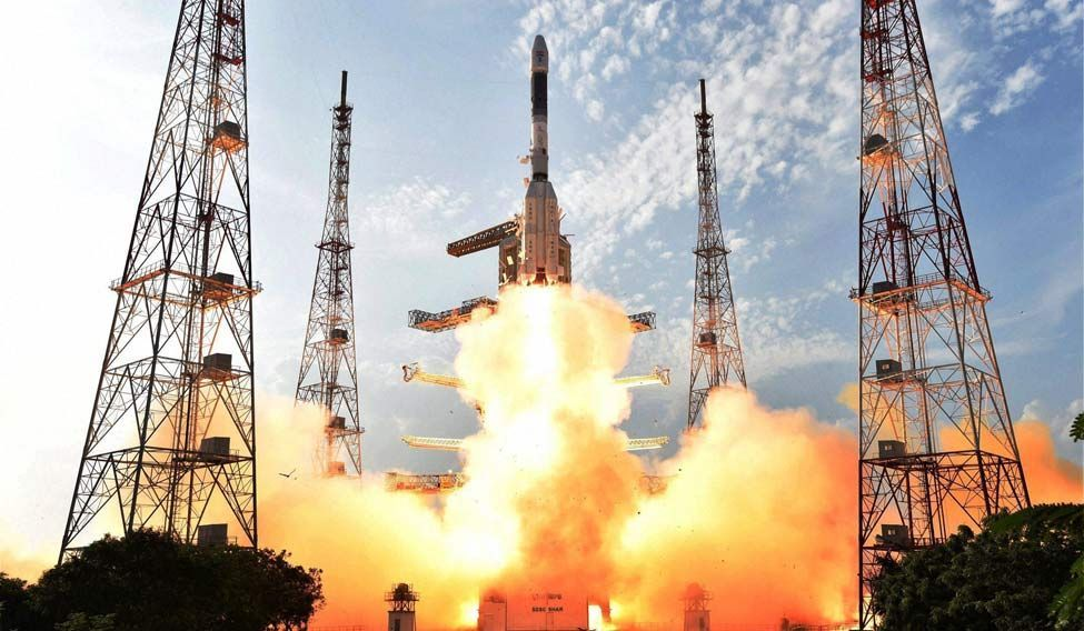 The rocket has successfully lifted off from its launch pad at Sriharikota