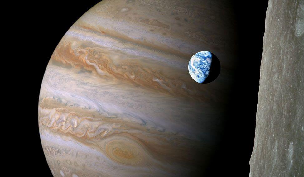 Jupiter-earth